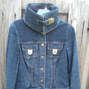 Escada denim jacket gold hardware 38 US 6